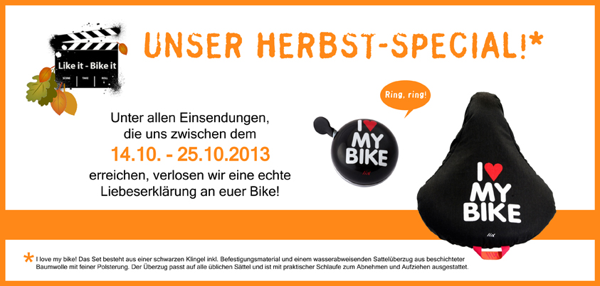 Herbstspecial bei Like it - Bike it